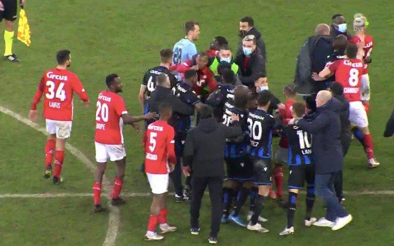 Standard-Club Brugge ontaardt in ordinaire knokpartij na knotsgek slot
