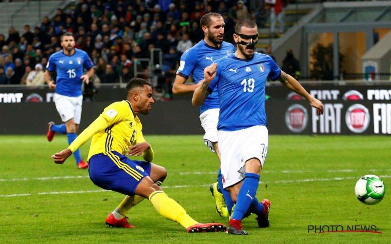 Zweden houdt Italië voor de eerste keer in 60 jaar van een WK