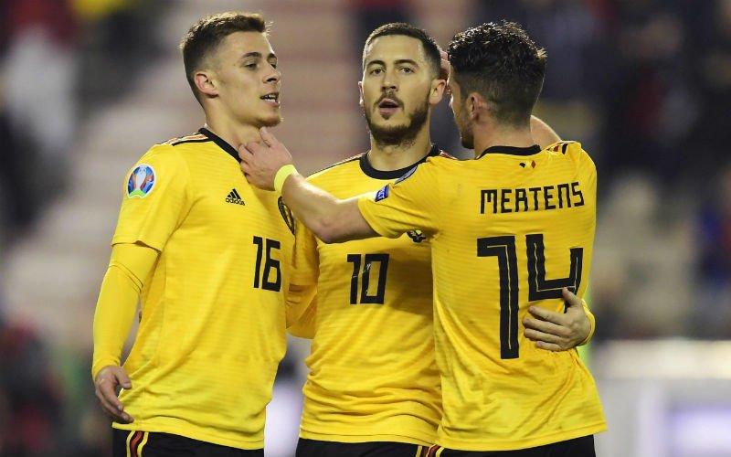 Hazard gidst Rode Duivels ondanks blunder van Courtois voorbij Rusland