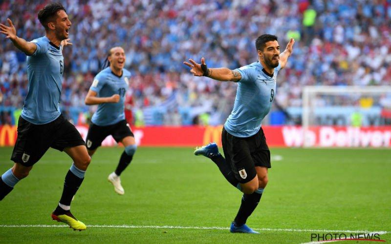 Suarez en Cavani trappen Uruguay naar groepswinst tegen Rusland