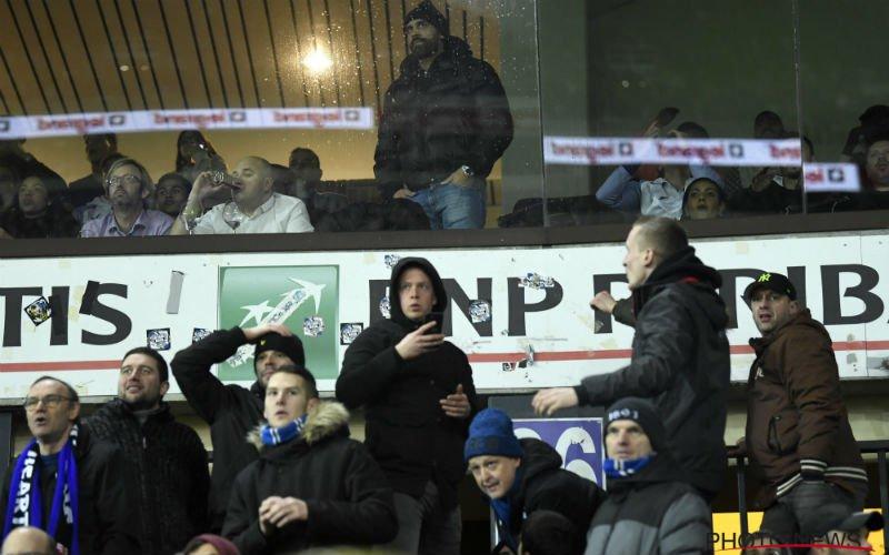 Vanden Borre gaat confrontatie aan met Club Brugge-fans, politie grijpt in