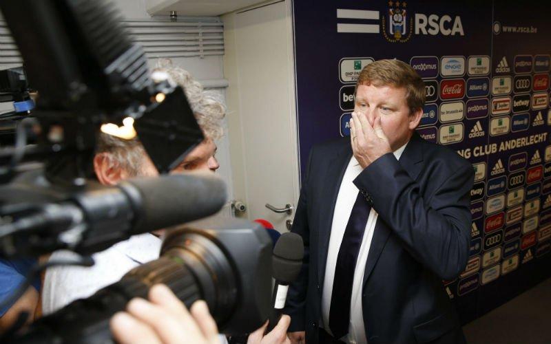 Vanhaezebrouck meteen in de problemen bij Anderlecht