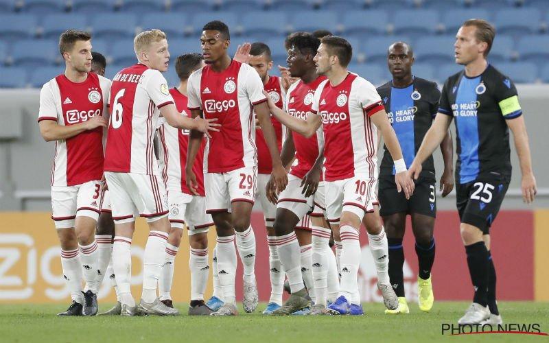 Ajax zet Club Brugge met beide voeten op de grond