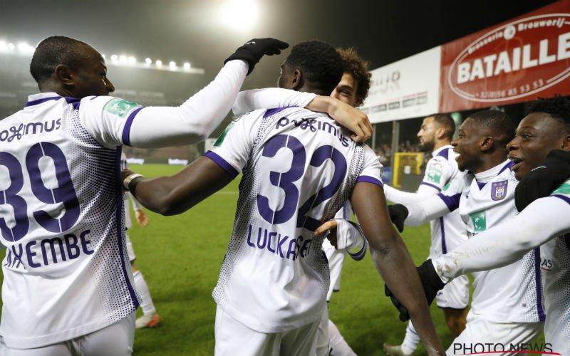 Anderlecht bereikt kwartfinales van beker na zege op Moeskroen