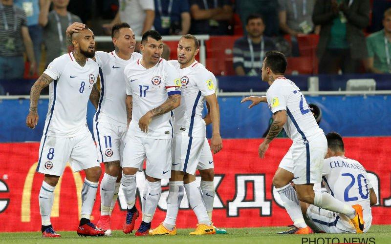 Chili bezorgt Hugo Broos eerste nederlaag op Confederations Cup