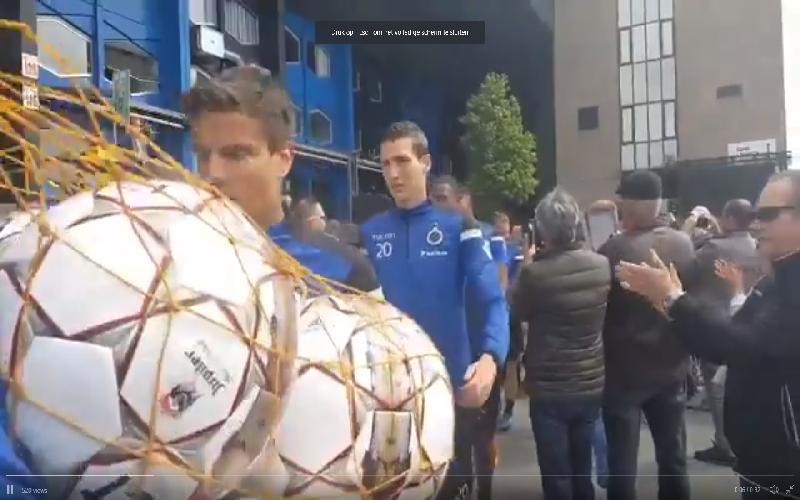 Kampioen Club Brugge ook als echte helden op training onthaald (Video)