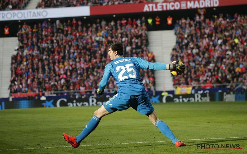 Courtois neemt keiharde revanche op Atlético-fans