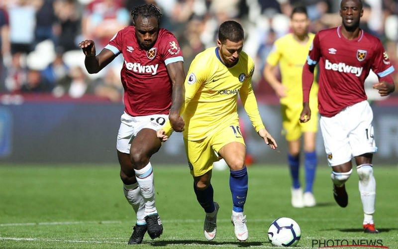 Hazard krijgt de klus niet geklaard bij Chelsea
