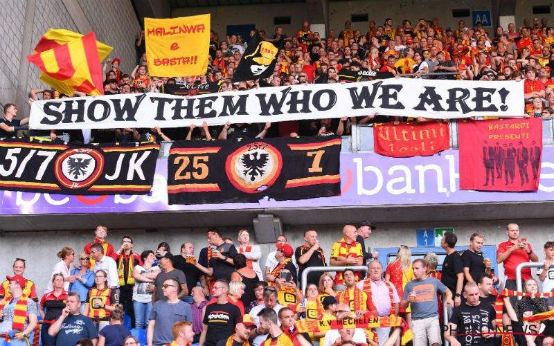 Pijnlijk: Fans van KV Mechelen gaan zwaar uit de bocht