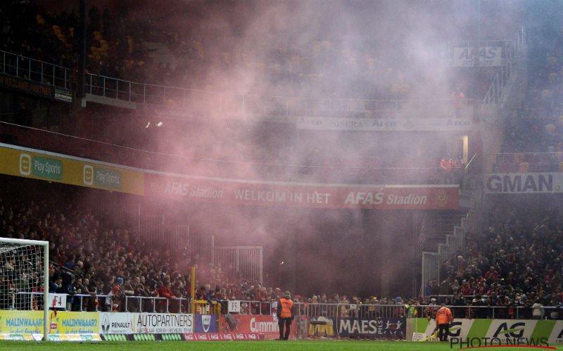 Toch wel heel straf wat KV Mechelen-fans hier doen