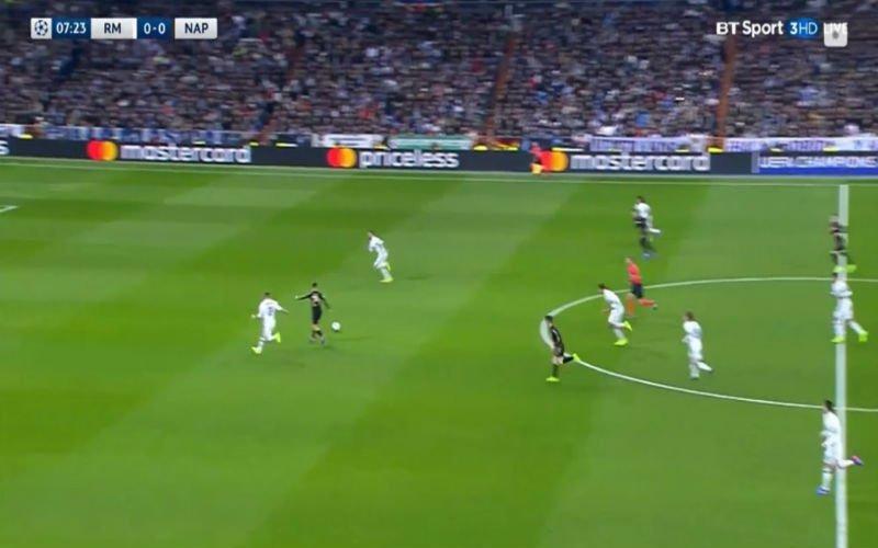 Mertens bereidt geweldige goal van Napoli voor, doelman van Real Madrid staat voor schut (Video)