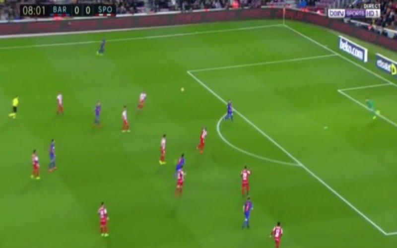 Lionel Messi verrast doelman met deze opmerkelijke kopbal (Video)