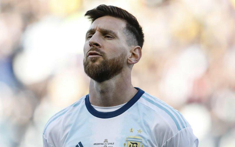 Woeste Messi wil podium niet betreden: