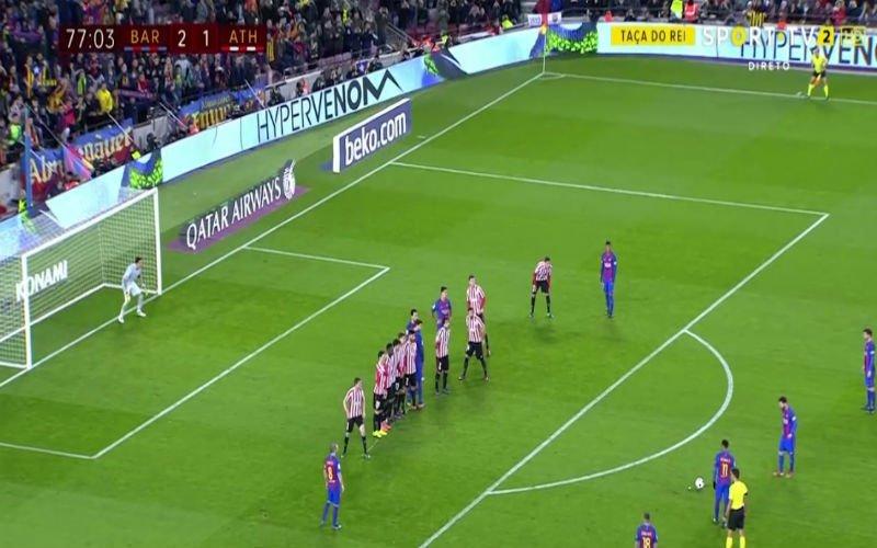 Messi verrast doelman met deze spitsvondige vrije trap (Video)