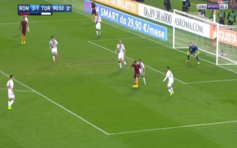 Nainggolan scoort weer met een fantastisch schot na mooie assist van Totti (Video)