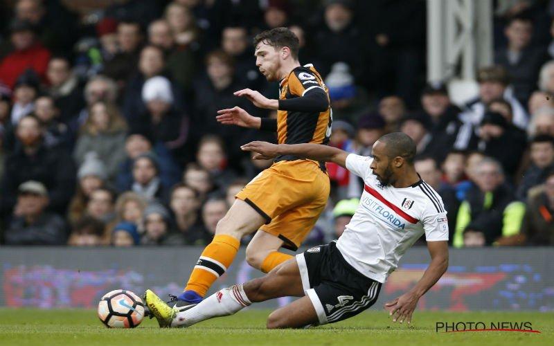 Denis Odoi scoort voor Fulham en viert dat op spectaculaire wijze