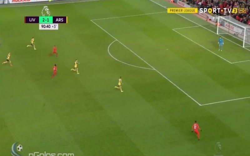 Origi duwt Arsenal met een fantastische assist helemaal de dieperik in (Video)