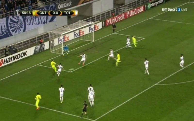 Perbet scoort en zet Gent zowaar op voorsprong tegen Tottenham (Video)