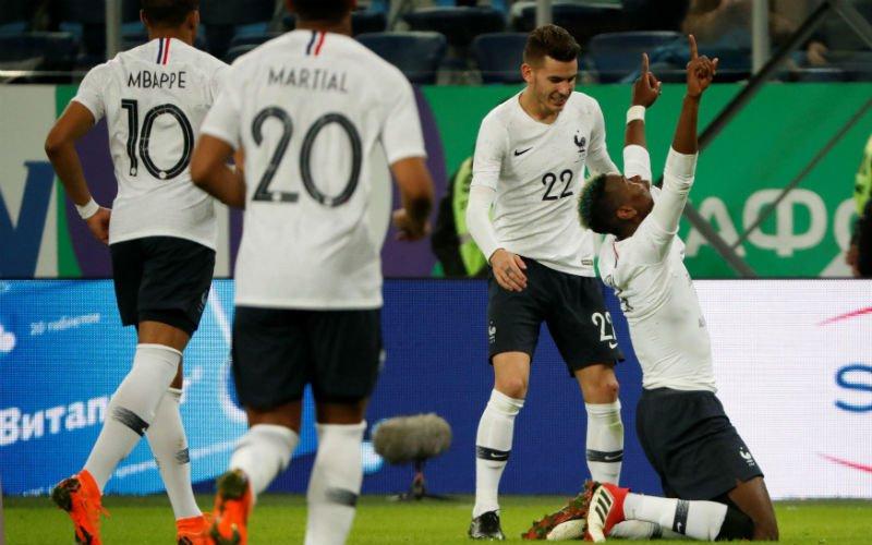 Frankrijk wint heel eenvoudig van gastland Rusland