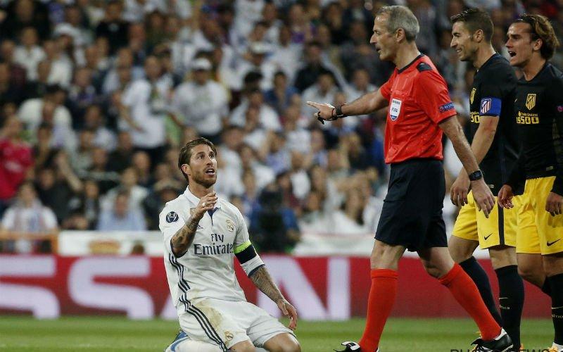 Sergio Ramos gaat zwaar uit de bocht tegen Atlético Madrid