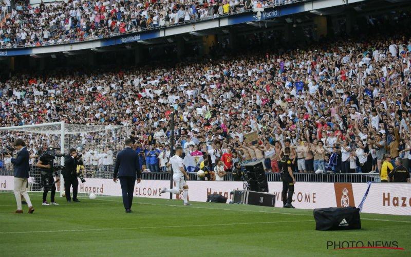 Pijnlijk: Real-fans scanderen Mbappé bij presentatie van Hazard (VIDEO)