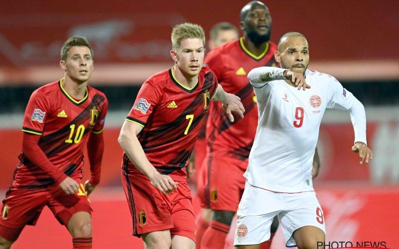 Kijkers ergeren zich blauw aan twee Rode Duivels tegen Denemarken