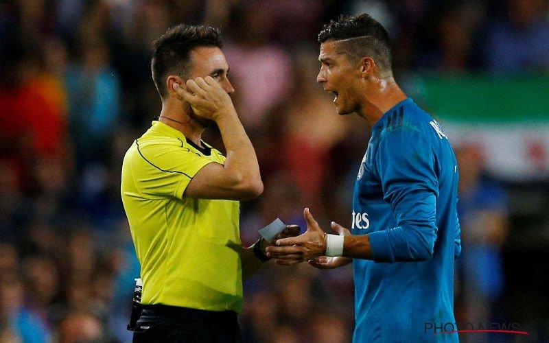'Megaschorsing voor Cristiano Ronaldo na wangedrag in Clasico'