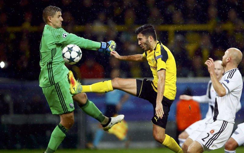 Totaal geschift scoreverloop in CL-wedstrijd tussen Dortmund en Legia Warschau