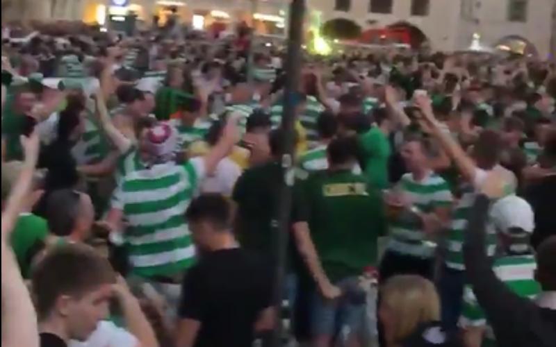 Heerlijk! Celtic-fans zorgen voor kippenvel in München (Video)
