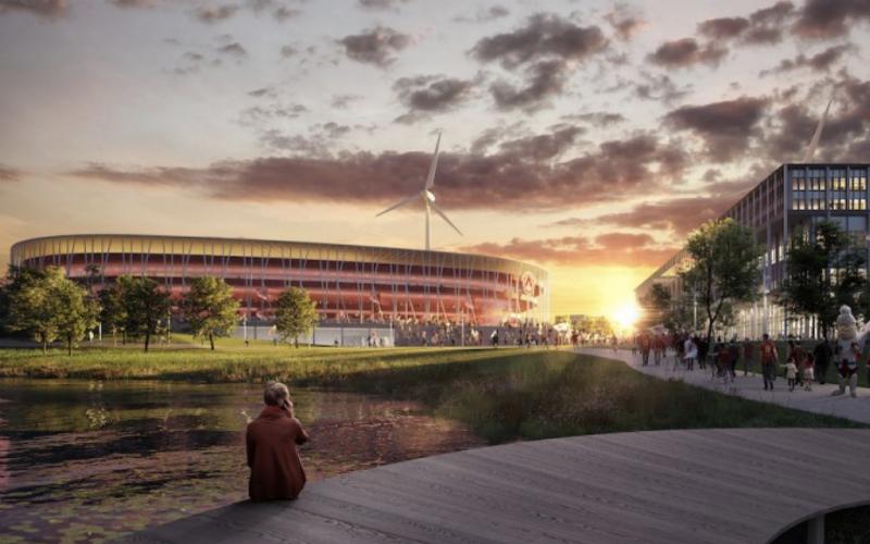 Kortrijk stelt nieuw stadion voor... En deelt prikje uit aan Club Brugge