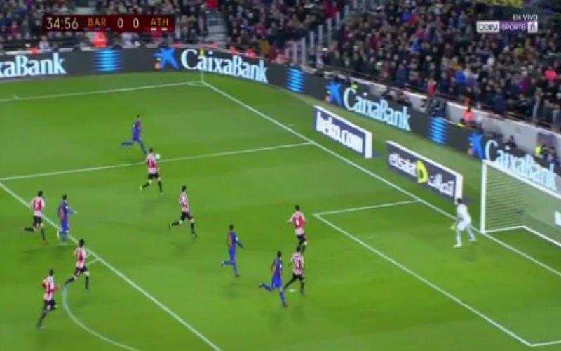 Suarez scoort zijn 100e doelpunt voor Barcelona op deze fenomenale manier (Video)