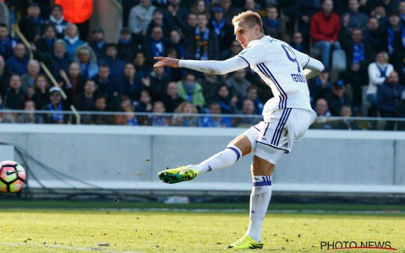 'Anderlecht legt Teodorczyk deze straf op na afwezigheid op Gouden Schoen'