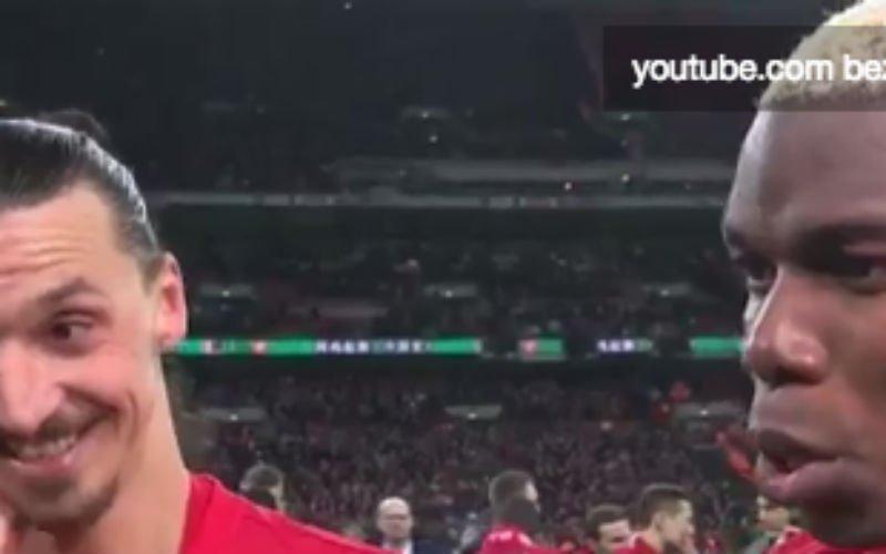 Ibrahimovic zet Pogba op deze geniale wijze op zijn plaats (Video)